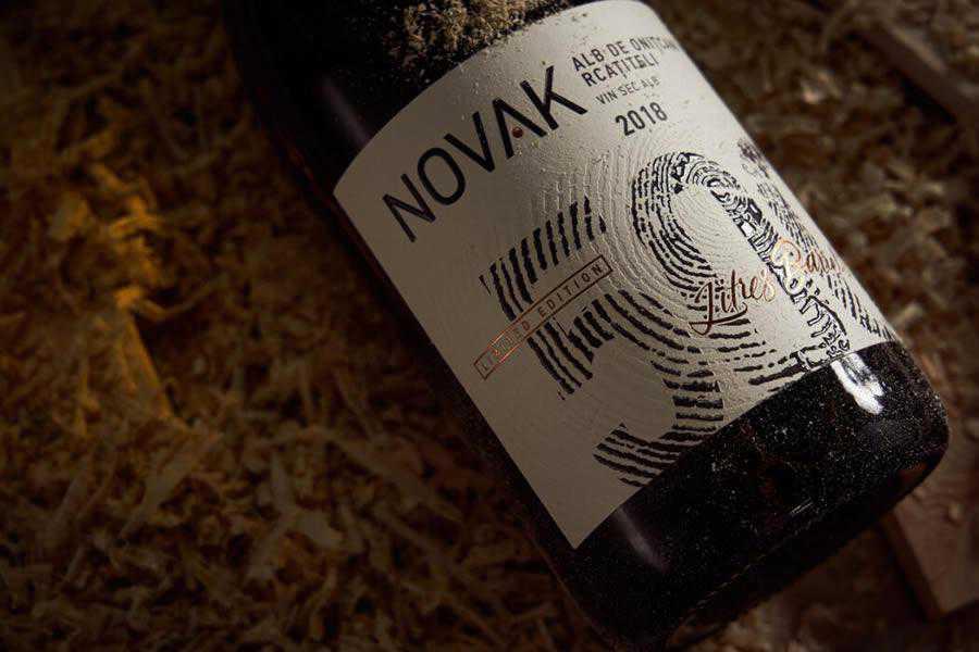 Novak 500 wine label design inspiration