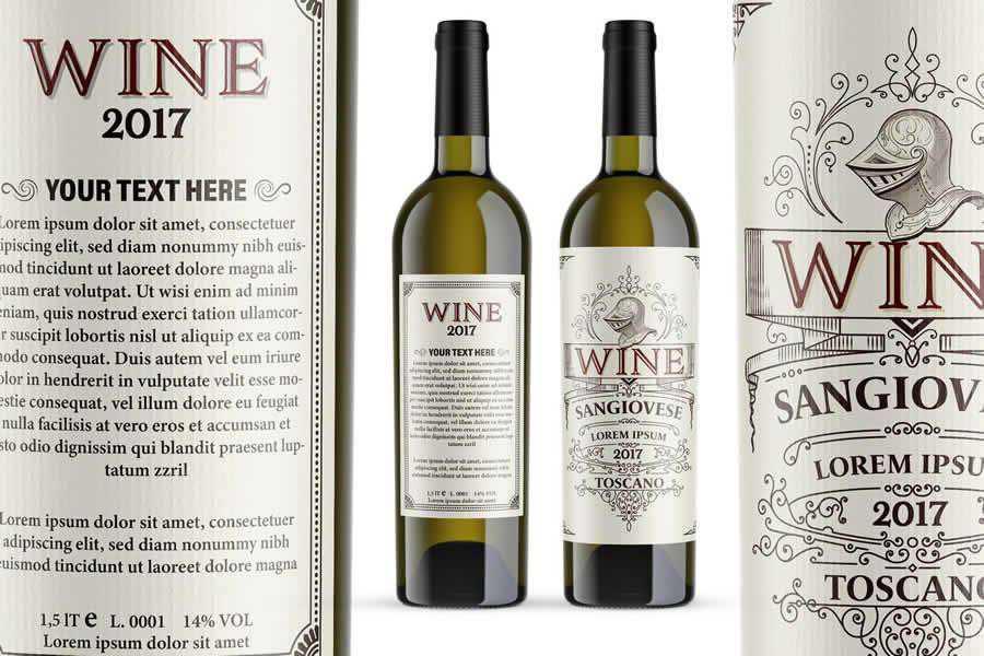 Vintage Wine Label Template design inspiration