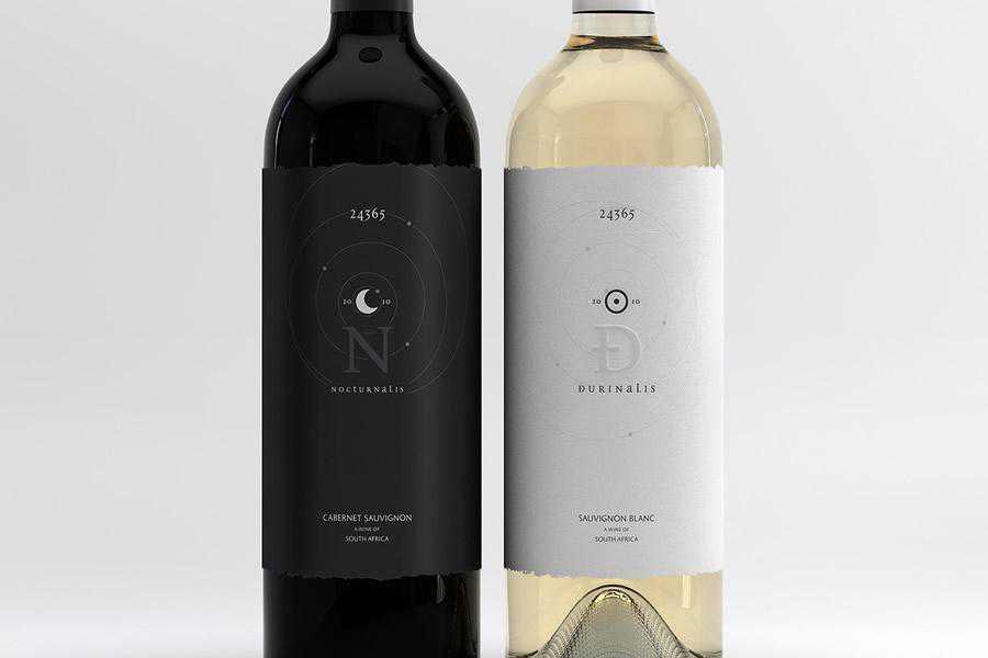 Nocturnalis Durinalis wine label design inspiration