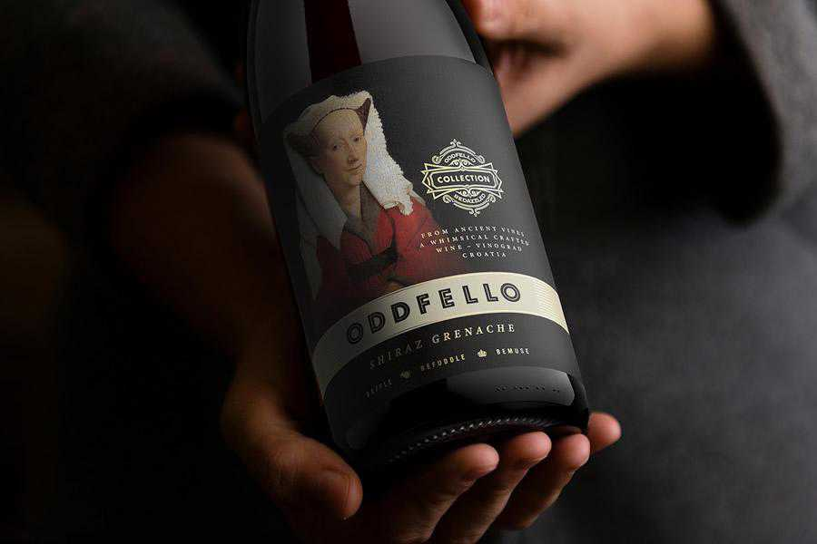 Oddfello Wine Collection label design inspiration