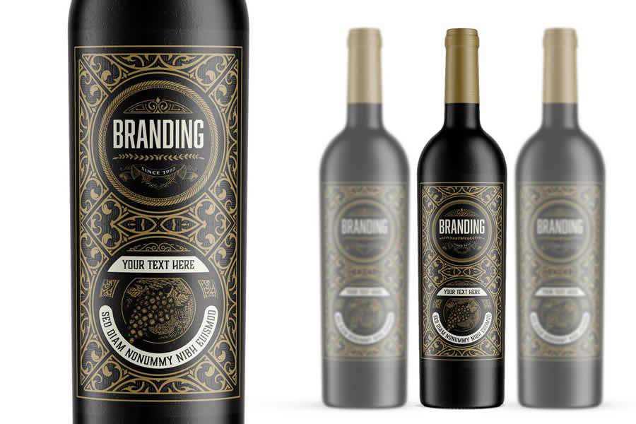 Vintage Wine Branding Template label design inspiration
