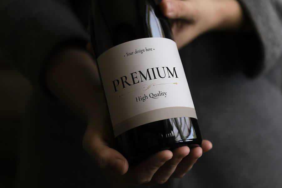 Wine Bottle Mockup Template label design inspiration