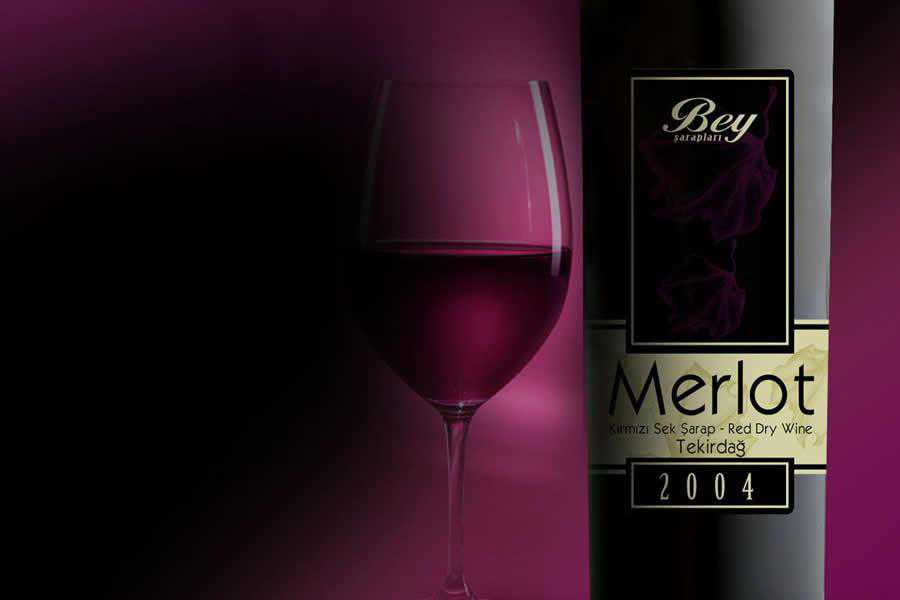 Bey Merlot wine label design inspiration