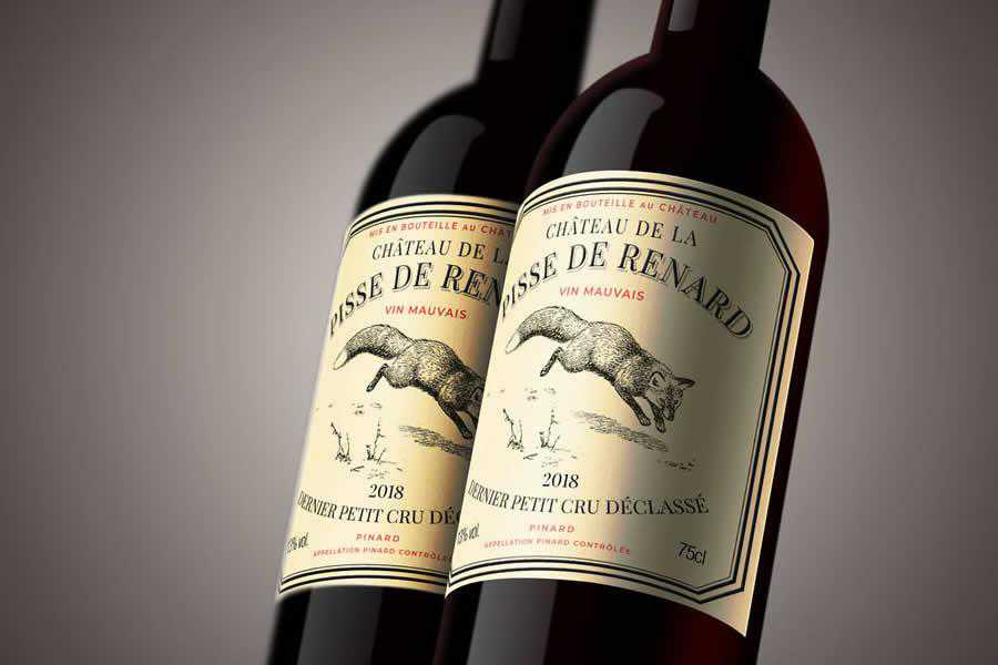 Pisse de Renard wine label design inspiration