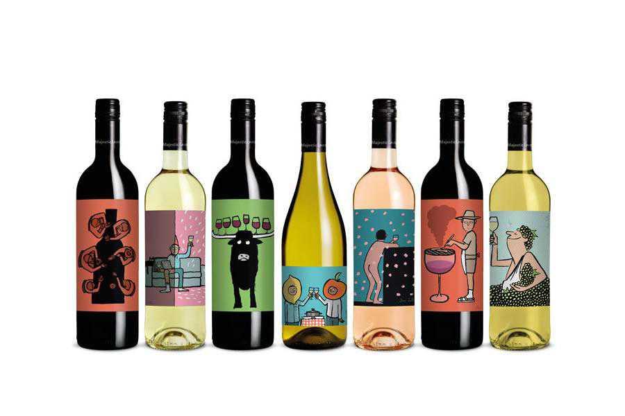 Majestic Loves wine label design inspiration
