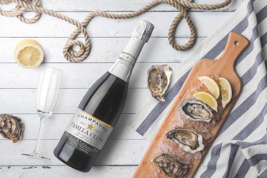 Champagne Bottles Mockup Templates wine label design inspiration
