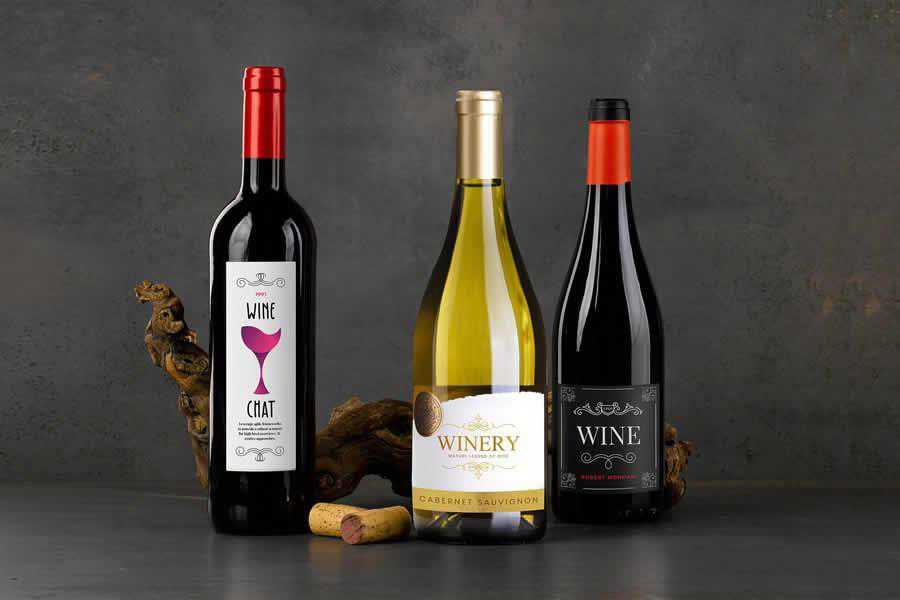Wine Bottle Mockup label design inspiration