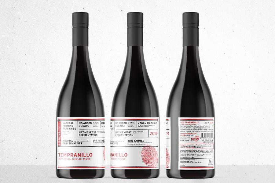 RedThumb Natural wine label design inspiration