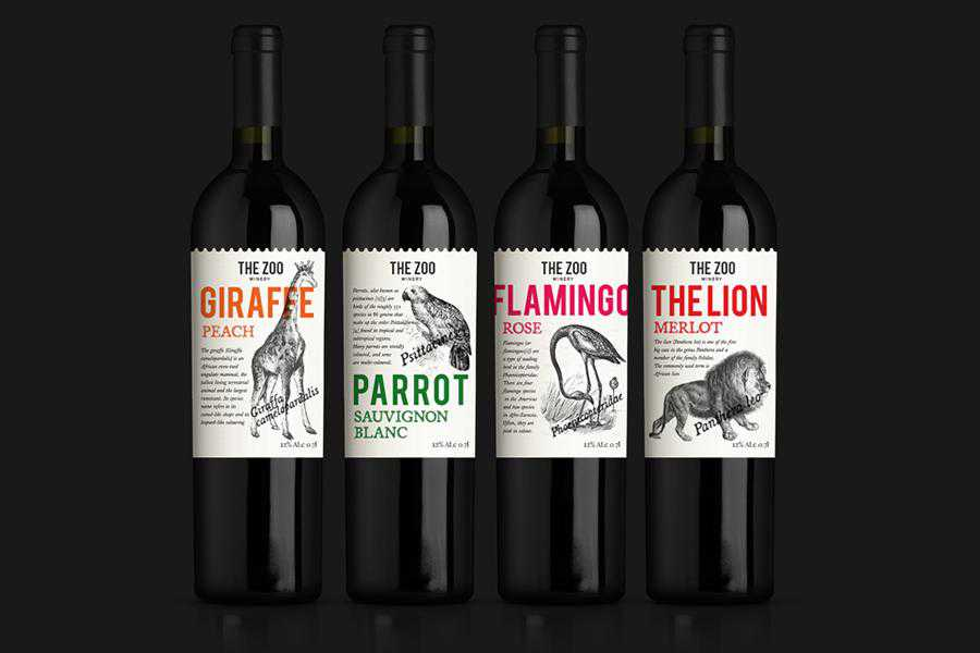 Zoo Theme wine label design inspiration