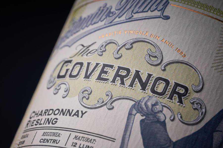 The Governor wine label design inspiration