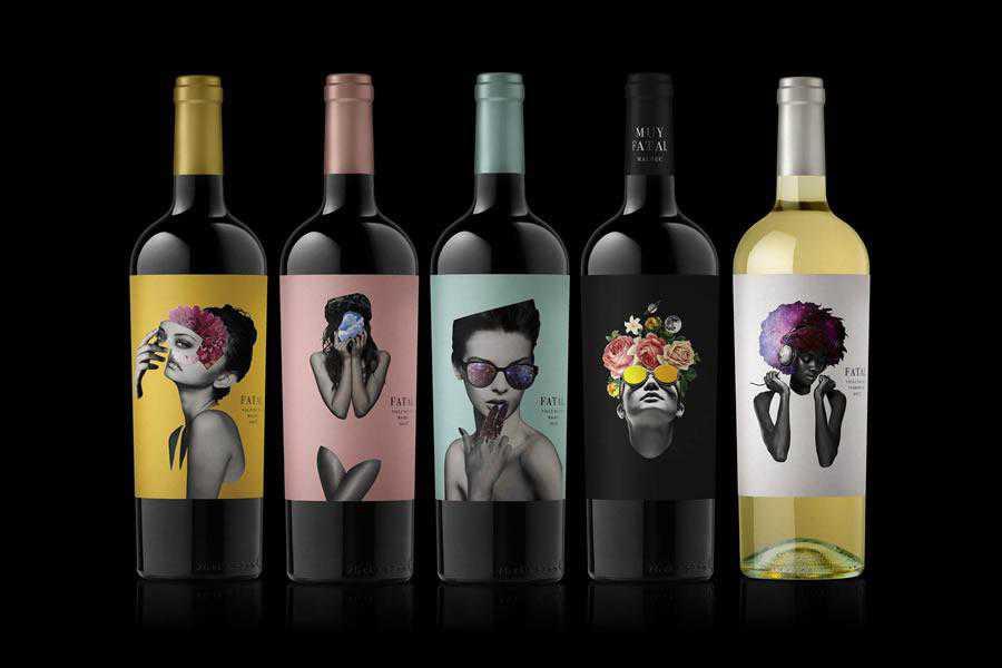 Fatal wine label design inspiration