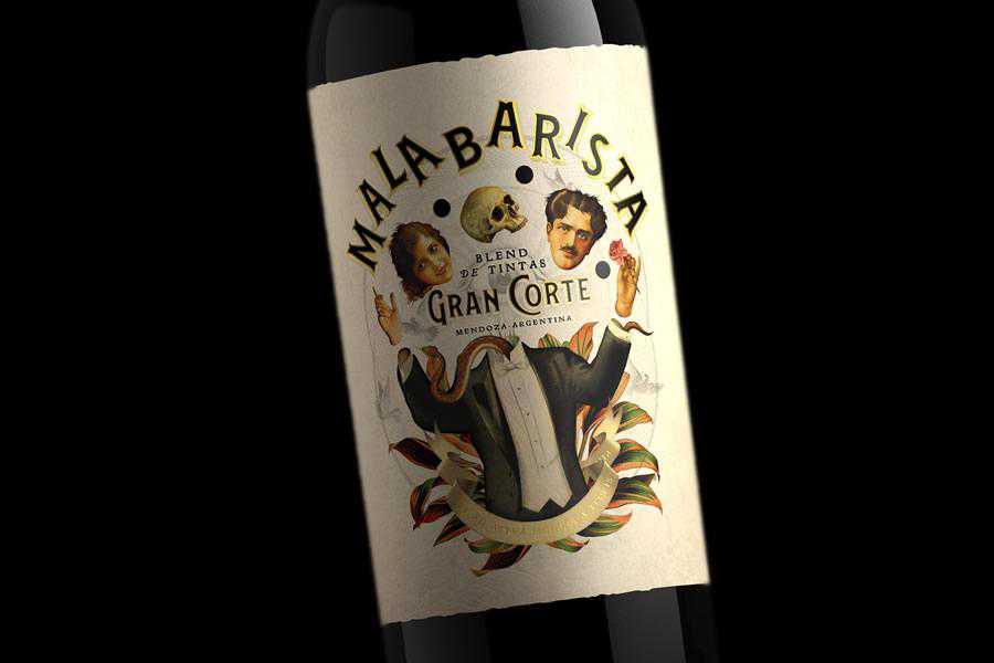 Malabarista Gran Corte wine label design inspiration