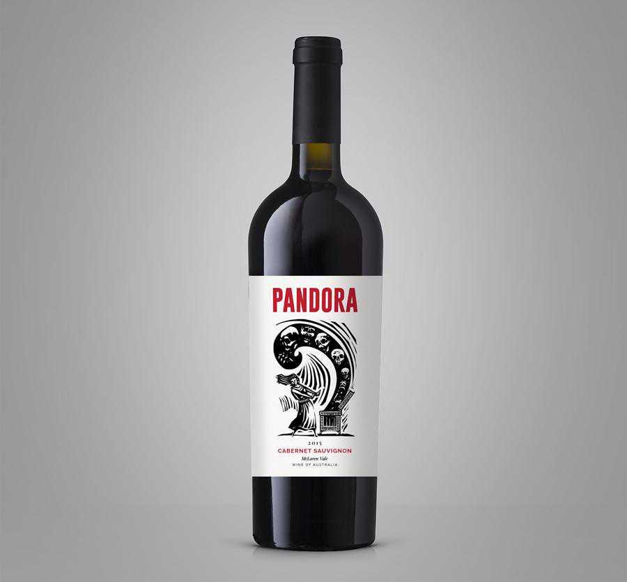 Pandora wine label design inspiration