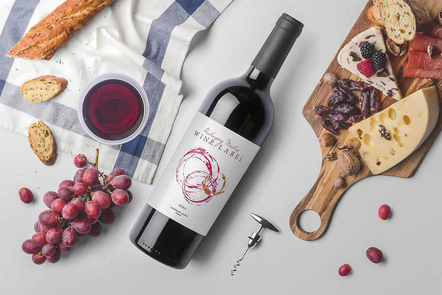 Wine Bottles Mockup Templates design inspiration