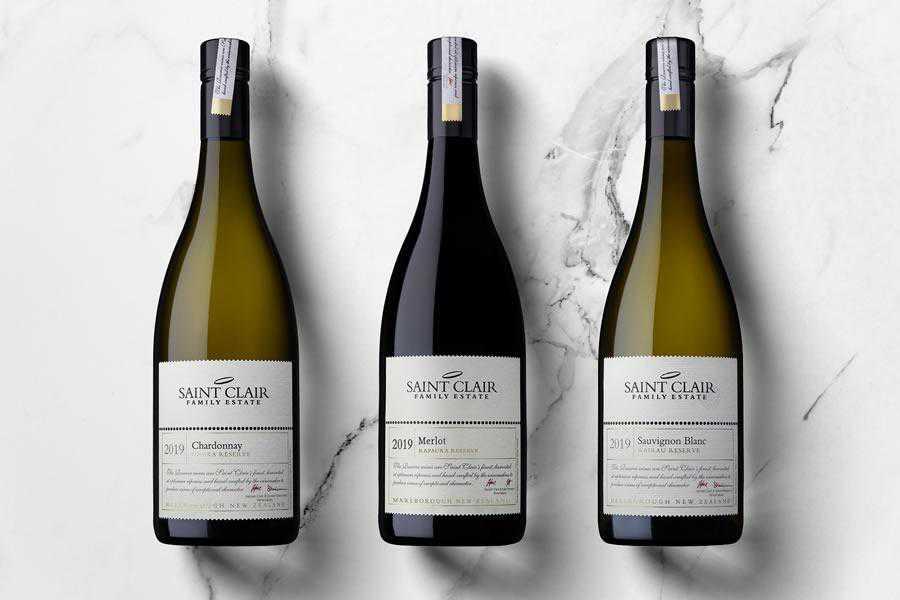 Saint Clair Family Estate Branding wine label design inspiration