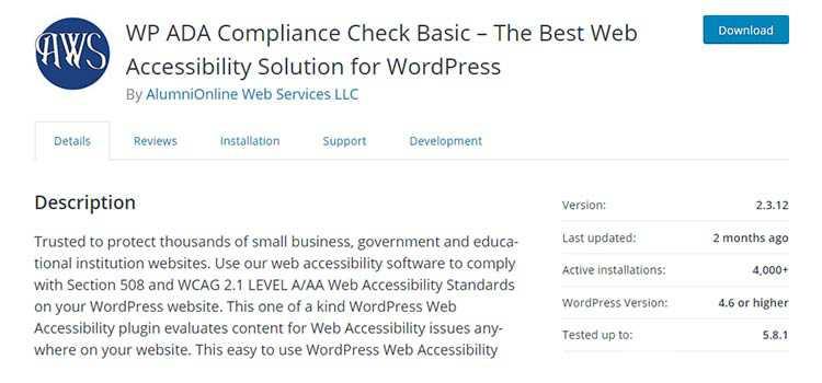 WP ADA Compliance Check Basic