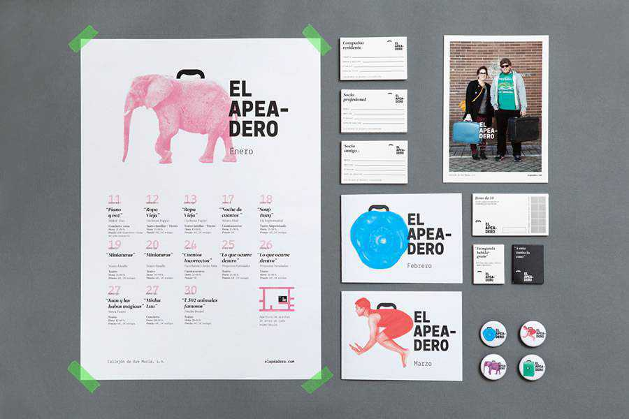 El Apeadero brand identity design inspiration logo