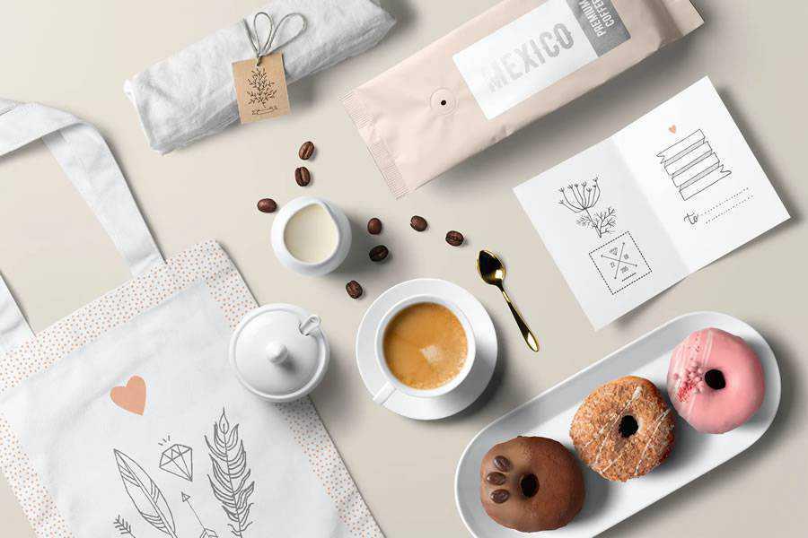 Coffee Branding Mockup identity design inspiration logo