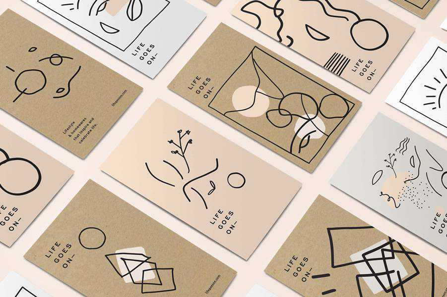 Life Goes On brand identity design inspiration logo
