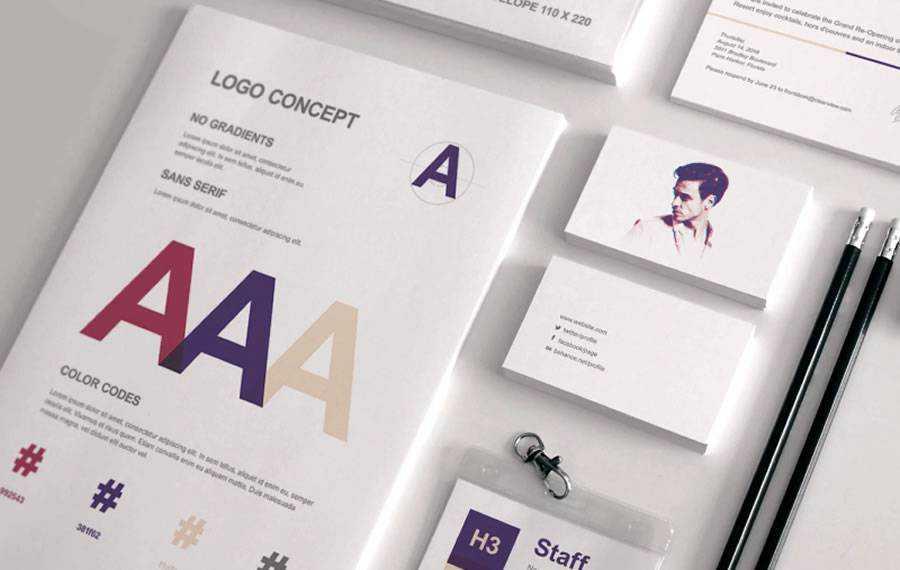 Full Stationery Proposal brand identity design inspiration logo