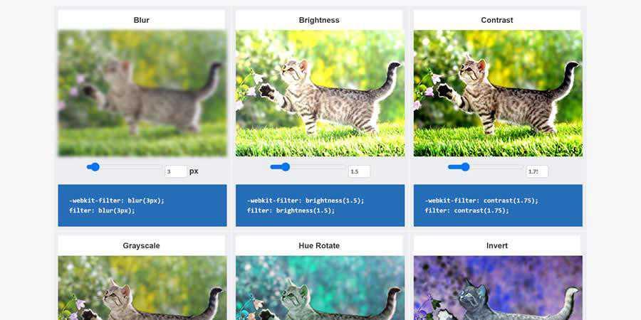 CSSReflex Filter Effects CSS image toolbox generator