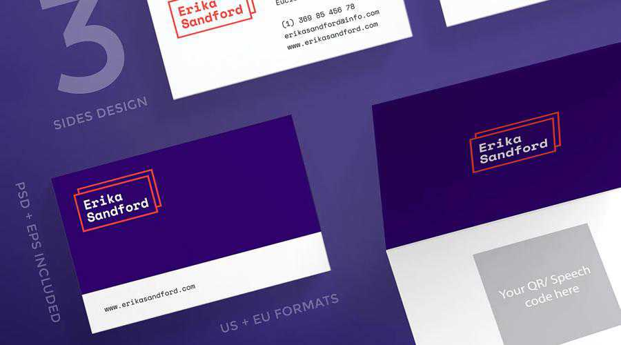 Services Business card template inspiration for designers' advertisements