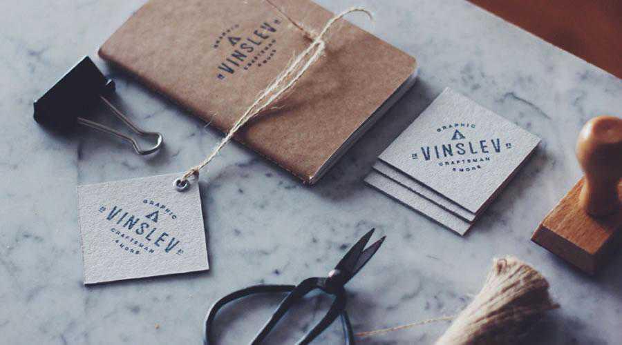 Homemade business cards inspire designer ads