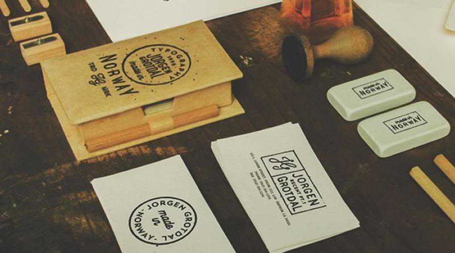 Business card stamps inspire designer ads