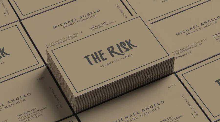 Cardboard business card design inspiration for designer ads