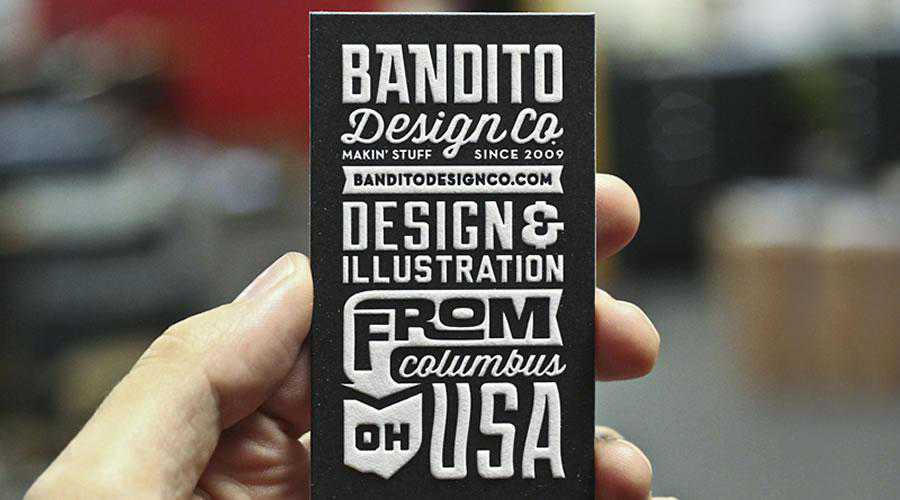 Bandito Card development inspiration for designer ads