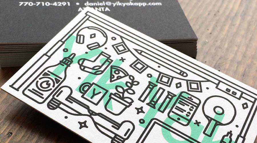 Yik Yak Biz cards inspire designer ads