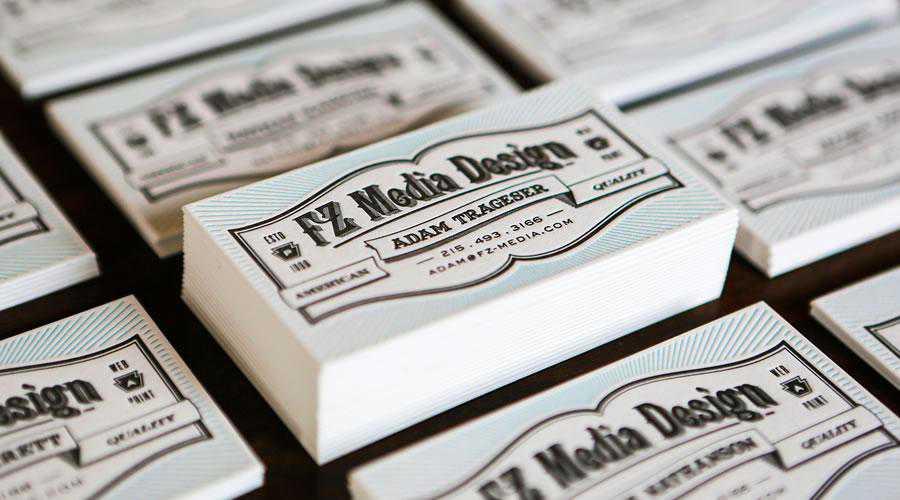 FZ Media Letterpress cards inspire designer ads