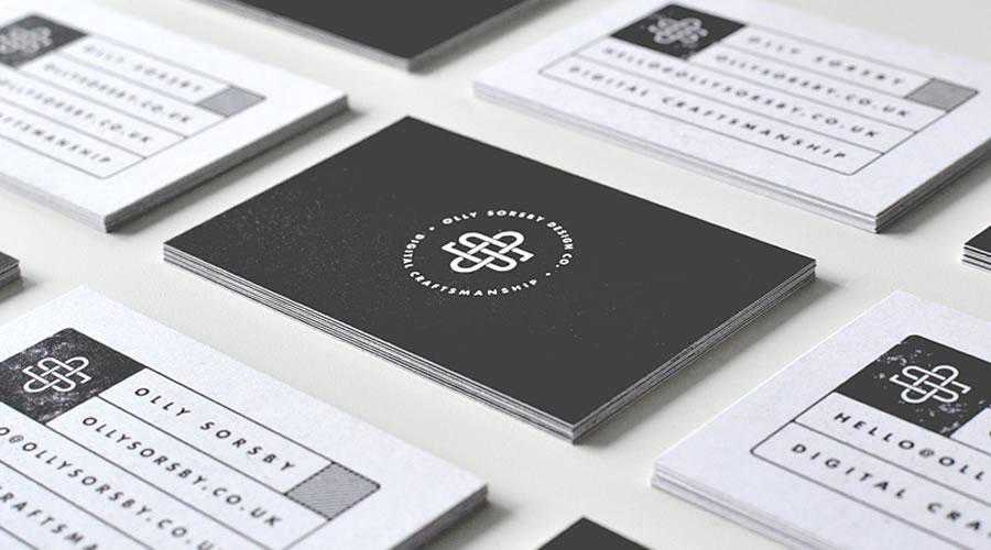 Personalized business cards inspire designer ads