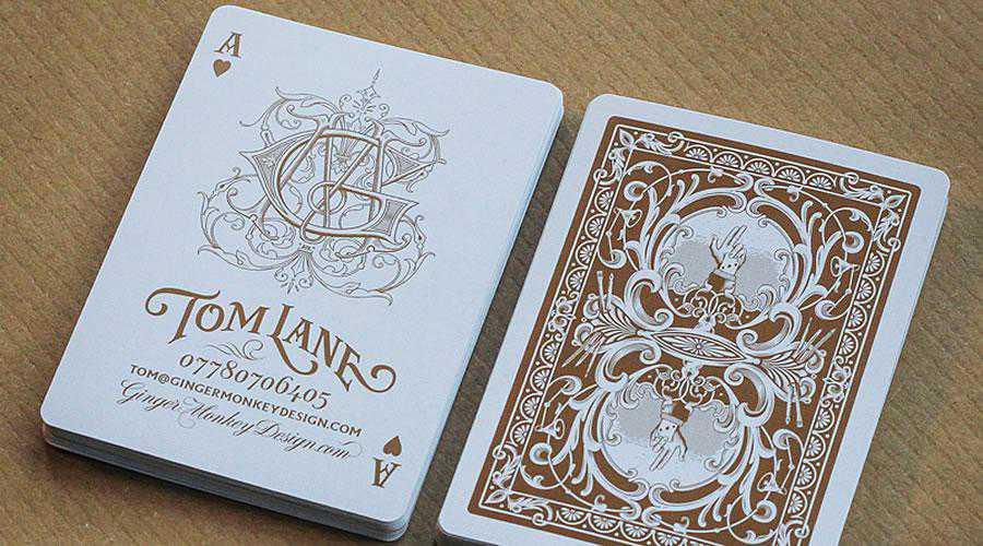 Authentic Playing Cards bronze metallic ink inspires designer ads