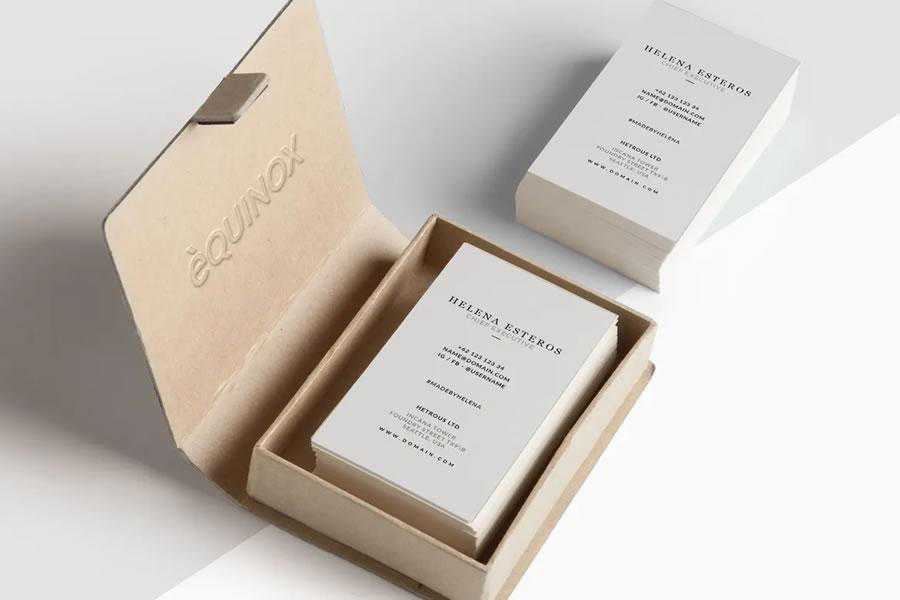 Minimal inspiration in designing business cards for designers