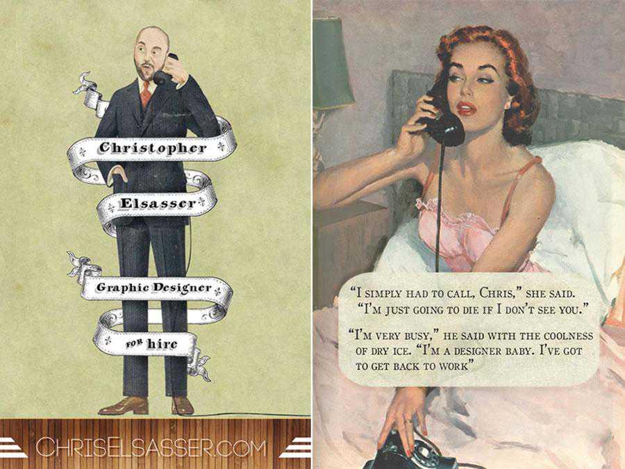 Vintage business card design inspiration for designer ads