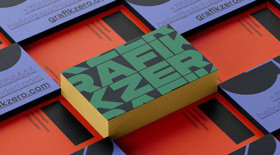 Grafikzero Business Cards design inspiration for designers creatives
