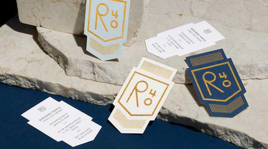 R40 business cards inspire designer ads