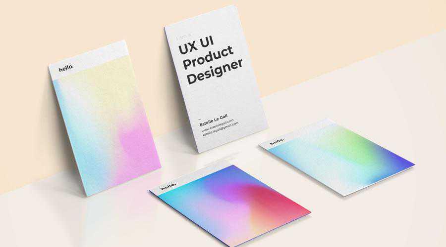 Colorful business cards inspire designer ads