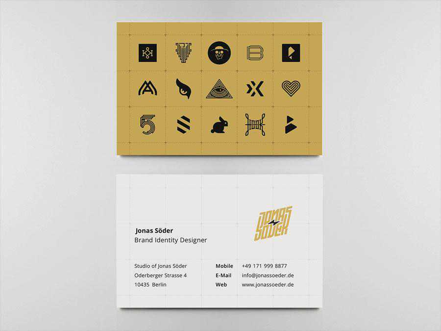 Business Cards 2020 design inspiration for designer ads