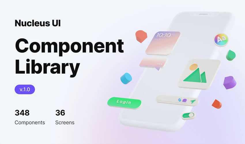 Nucleus UI Component Library free figma ui kit