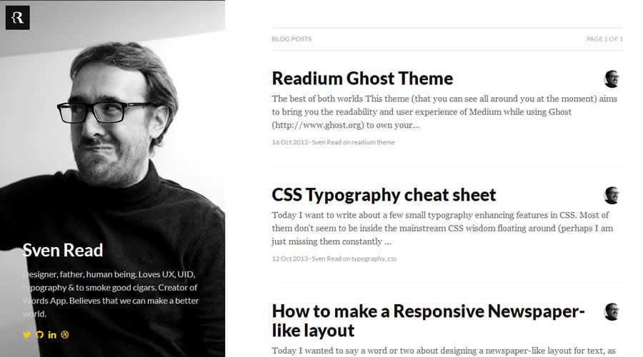 Readium theme ghost free