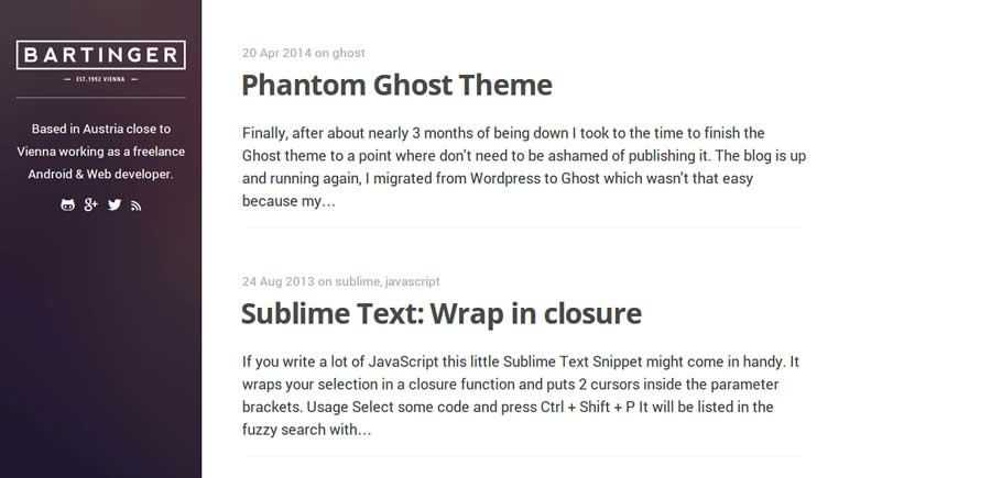Phantom Theme theme ghost free