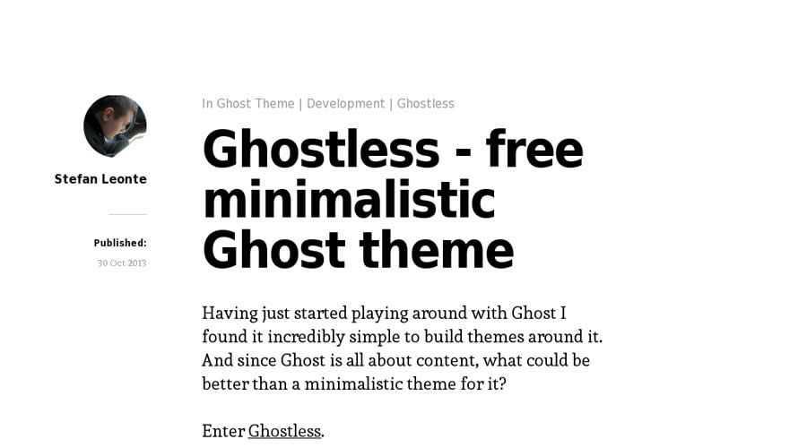 Ghostless theme ghost free