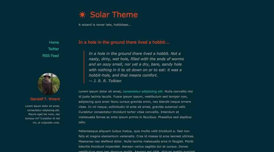 Solar theme ghost free