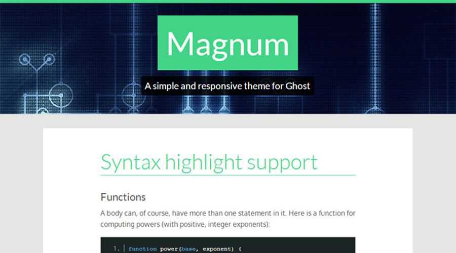 Magnum theme ghost free