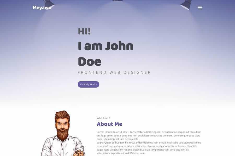 Meyawo Bootstrap Framework free resume html templates cv
