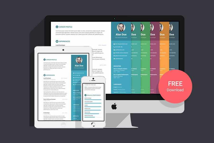 Orbit Bootstrap free resume html templates cv
