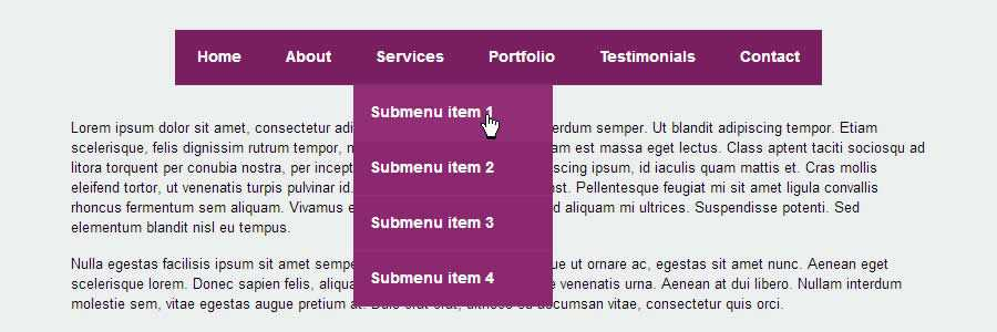 Flaunt Nested Click-To-Reveal javascript navigation menu responsive web design