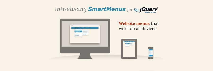 SmartMenus javascript navigation menu responsive web design
